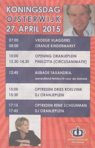 Programma Koningsdag 2015 in Oisterwijk